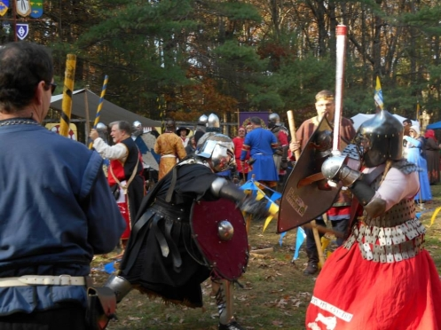 Here is a picture of me fighting Duke Omega.  Thanks to Melinda Hudson for sharing this pic!